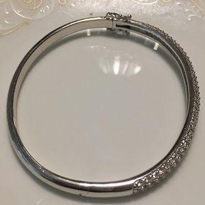 QVC Jewelry - Ephiphany Platinum Clad Diamonique Pave' Bangle